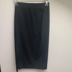 H&M Black Pinstripe Pencil Skirt Size XS